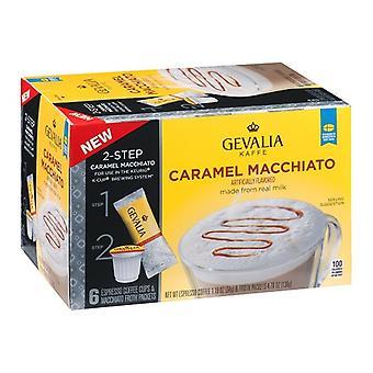 Gevalia Kaffe 2 paso K Macchiato caramelo tazas 2 paquete de la caja