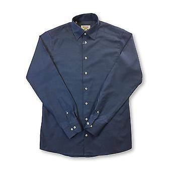 Eton Blue contemporary fit shirt in blue triangle print