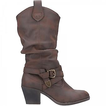 Rocket Dog Sidestep Ladies Western Boots Brown