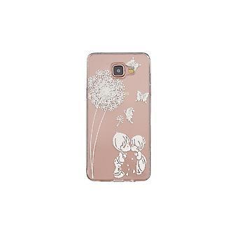 Coque Pour Samsung Galaxy A3 (2016) Transparente Souple Motif Fleurs Et Papillons Blancs