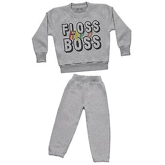 Floss Like A Boss - Sweatshirt with Grey Joggers - Baby / Kids Outfit
