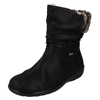 Ladies Rieker Fur Lining Ankle Boots X0680