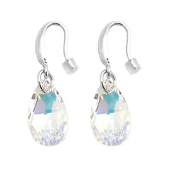 Earrings Indicolite tear BOCRLARM01AB - earrings silver A925/00 crystals Swarovski white