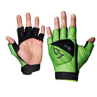 Kookaburra 2018 Xenon Field Hockey Fingerless Hand Glove Protection Lime Green
