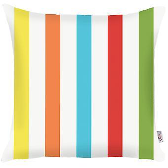 """18 """"x 18"""" värillinen trooppinen raidat koriste heittää tyynyn päällinen"""