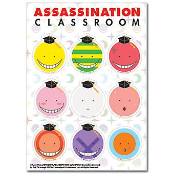 Sticker - Assassination Classroom - New Koro Sensei Faces Set Toy ge55543