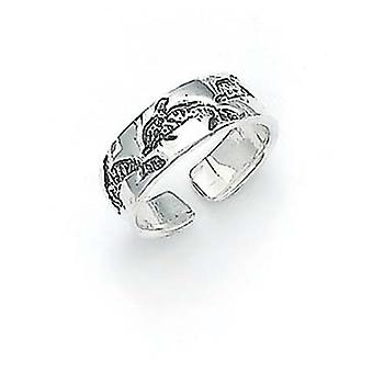 925 Sterling Silver Dolphin Toe Ring Jewelry Gifts for Women
