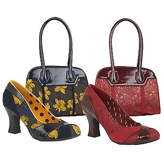 Ruby Shoo Women's Lulu High Heel Paneled Court Shoes & Montpellier Bag