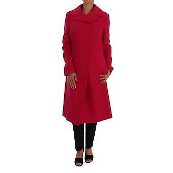 Dolce & Gabbana Pink Wool Trenchcoat Long Jacket