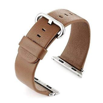 Watch strap made by w&cp to fit apple iwatch watch strap brown leather 38mm and 42mm