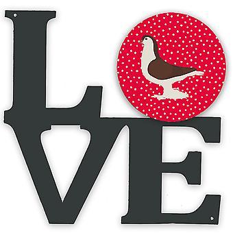 Carolines Aarteita CK5370WALV suuri kyyhkynen rakkaus metalli seinäkuvitus rakkaus
