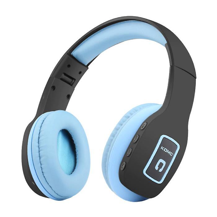 KOMC Wireless Headphones Bluetooth Wireless Headphones Stereo Gaming Blue