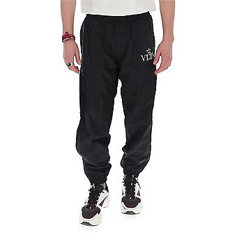 Valentino Tv3rea855vf0ni Men's Black Nylon Pants