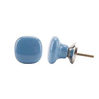 المعاملة هدايا حصاة الأزرق الداكن الشكل مقبض درج السيراميك