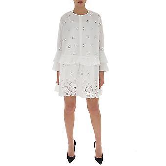 Semi-couture Y0sw06a01 Women's White Cotton Dress
