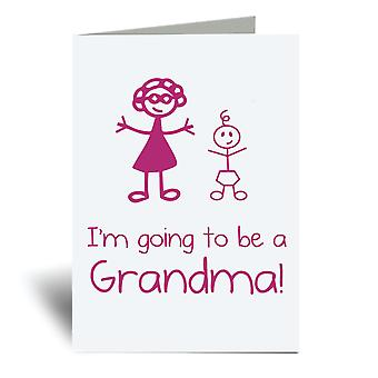 I'm Going To Be A Grandma A6 Greeting Card