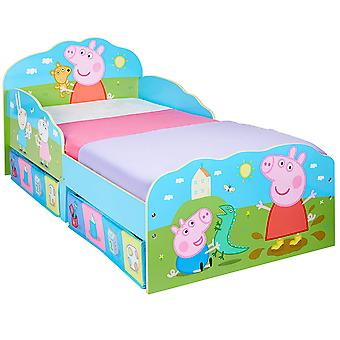 Peppa Pig Holzbett mit Containern