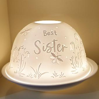 Nordic Lights Candle Shade & Plate - Special Sister
