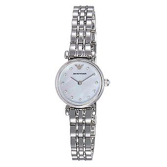 Armani Watches Ar1961 Silver Mother Of Pearl Dial Ladies Emporio Armani Watch
