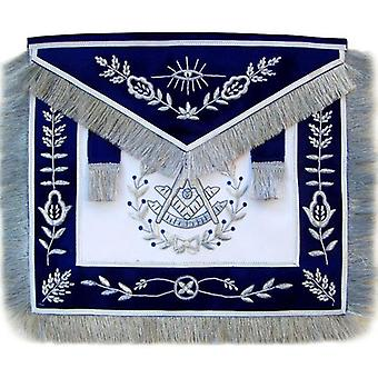 Masonic blue past master apron bullion hand embroidered vine work