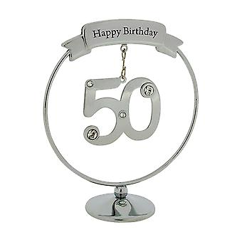 Crystocraft Silver Plated Birthday/Anniversary Mobile Hanger Ornament Made With Swarovski Crystals (50)