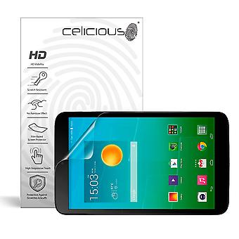 Celicious Vivid Invisible Glossy HD Screen Protector Film Compatible with Alcatel Onetouch Pop 8S [Pack of 2]