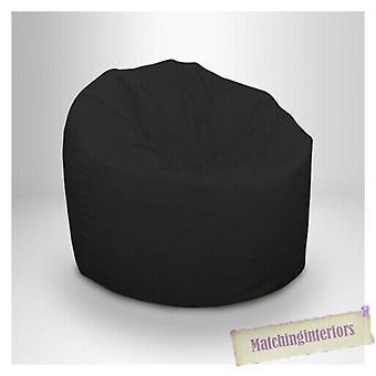 Ready Steady Bed Universal Bean Bag tuoli | Outdoor Garden Picnic Indoor Makuuhuone Olohuone | Vedenkestävä Kevyt & Mobile | Eloisat väripiukat (musta)