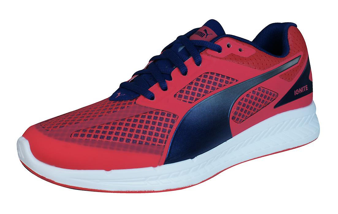 Puma Ignite Mesh Womens Running Trainers / Shoes - Red UK8