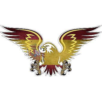 Aufkleber Vinyl Adler spanische Flagge