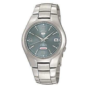 Seiko 5 Automatic Silver Dial Silver Stainless Steel Men's Watch SNK621K1