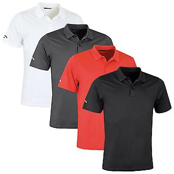 Callaway Golf Mens Classic Chev Solid Polo Shirt