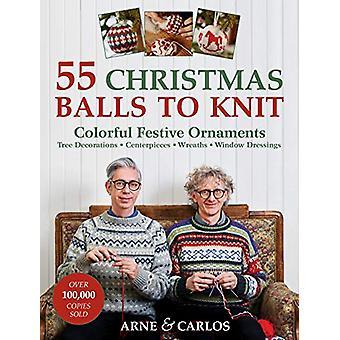 55 boules de Noel à tricoter - Ornements festifs colorés par Arne et