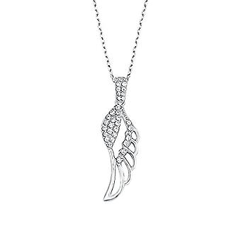 Amor Necklace for women with pendant - pattern: Silver wings Sterling 925 rodent with white zircons 45 cm 526753