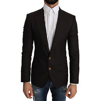 Dolce & Gabbana Brown Wool SICILIA Jacket Coat Blazer -- JKT2054704
