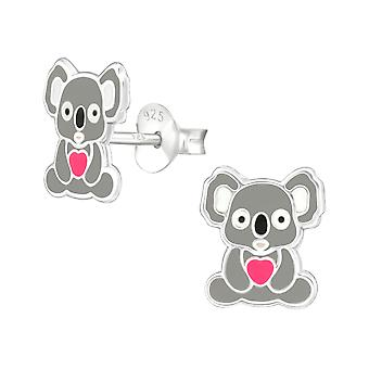 Koala - 925 Sterling Silver Colourful Ear Studs - W37495x