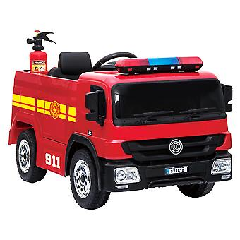RideonToys4u Fire Engine 12V Electric Ride On Car Red Ages 3-7 Years
