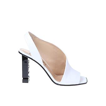Sergio Rossi A89950magn059000 Women's White Leather Sandals