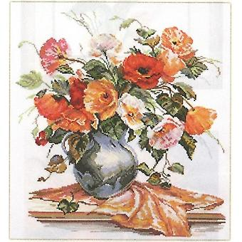 Alisa Cross Stitch Kit - Flower Poetry Tender Poppies