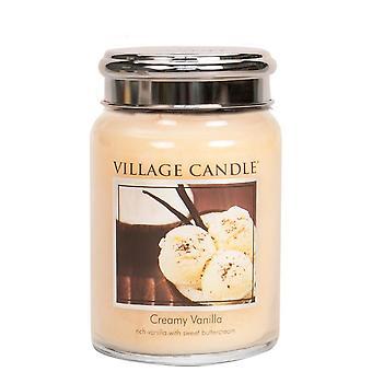 Village Candle Premium 26oz Scented Candle Jar Creamy Vanilla