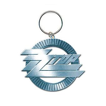 ZZ Top Keyring Keychain Circle band Logo new Official metal
