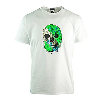Just Cavalli Painted Skull White T-Shirt