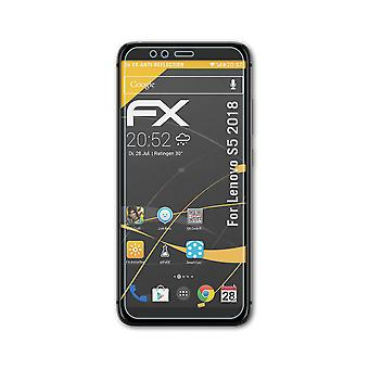 atFoliX 3x Schutzfolie kompatibel mit Lenovo S5 2018 Folie klar&flexibel