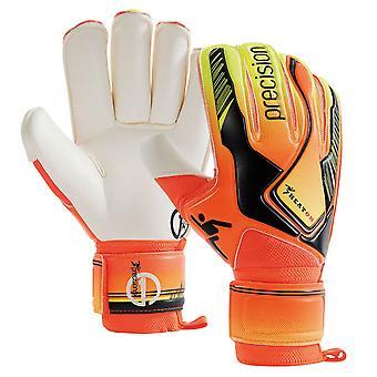 Präzision Hitze auf Rollfinger Erwachsenen Torwart Handschuh Orange/Schwarz