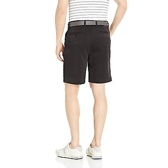 Essentials Menn's Standard Classic-Fit Stretch Golf Kort, Svart, 42