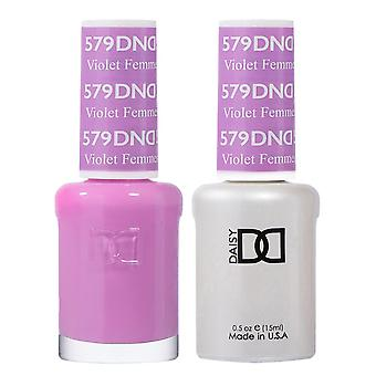 DND Duo Gel & Nail Polish Set - Violet Femmes 579 - 2x15ml