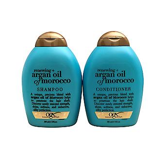 OGX Renewing + Argan Oil of Morocco Shampoo & Conditioner Set 13 Ounce