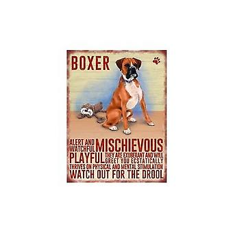 Boxer Metal Hanging Sign