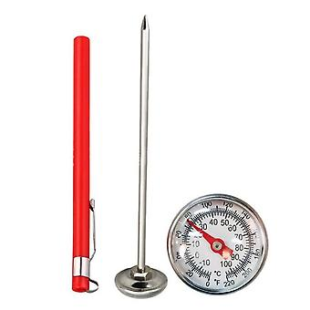 Stainless Steel Thermometer - Kitchen Probe Food Tea Water Meat Milk Coffee Foam Bbq Temperature Tester 10 To 120 ° C