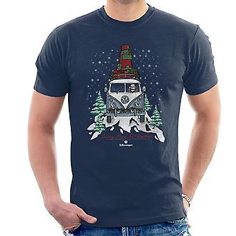 Volkswagen Driving Home Christmas Camper Men's T-Shirt