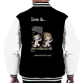 Kærlighed spiller svært at få mænd's Varsity Jacket